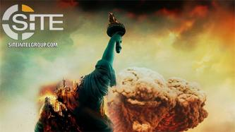 "Pro-IS Unit Says ""Punishment Will Not Stop"" on Poster of Destroyed Statue of Liberty, Mushroom Cloud in NYC"