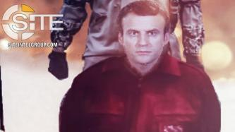 Pro-IS Group Depicts Macron as Prisoner Awaiting Execution in Holiday Threat Poster