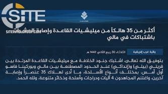 In Separate Incidents with JNIM in Mali, ISWAP Claims Killing 36 Total
