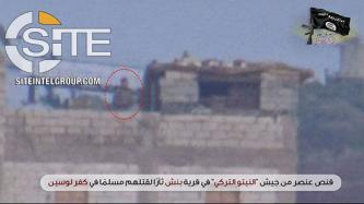 Syria-based Ansar Abu Bakr al-Siddiq Brigade Claims Sniping Turkish Soldier in Revenge Attack for Civilian