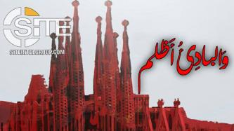 IS-aligned Group Depicts Church in Barcelona on Poster Threatening Revenge