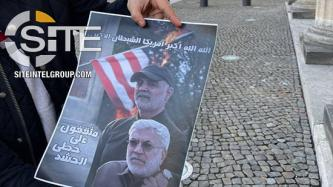 PMU Supporter Shows Himself at U.S. Embassy in Berlin with Anti-American Propaganda