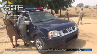 ISWAP Gives Photo Documentation of Attack on Nigerian Police Checkpoint Near Maiduguri