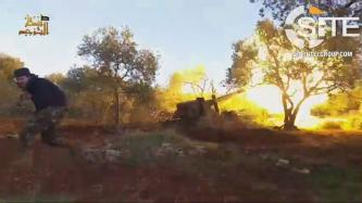 AQ-aligned Ansar al-Tawhid Provides Footage of Artillery Strike on Syrian-Russian Military Camp in Homs