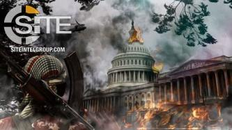 With Image Depicting U.S. Capitol Ablaze, Pro-IS Group Makes Simple Threat in 5 Languages