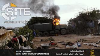 "Shabaab Provides Photo Report Documenting Suicide Raid on Somali Base in Barire, Incites Fighters to ""Redouble Jihad"""