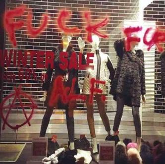 Eco-Activist Website Shares News of Vandalism Against Fur Shop in Glasgow, Scotland