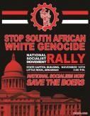 White Supremacists Share Flier for November National Socialism Movement Rally in Little Rock, Arkansas