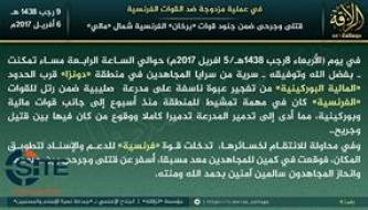 AQ's Nusrat al-Islam wal Muslimeen Claims Bombing, Ambush on French Forces Near Malian-Burkinabe Border