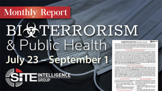 Bioterrorism & Public Health: Monthly Report September 2, 2020