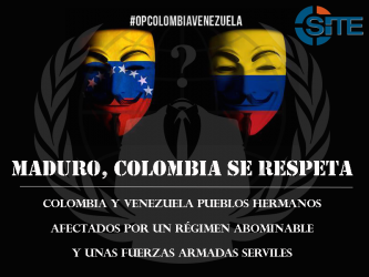 Anonymous Targets Venezuelan Government Websites for #OpColombiaVenezuela Campaign