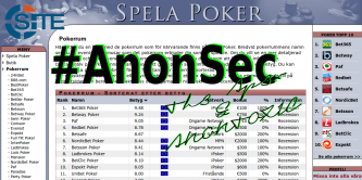 AnonSec Purportedly Breaches Swedish Poker Website, Releases Administrator and User Account Information