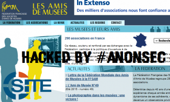 AnonSec Purportedly Hacks French Museum Organization in Defense of Syrian Refugees