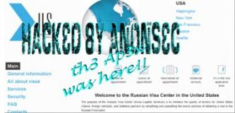 """AnonSec"" Claims Hacking the Russian Visa Center in USA"