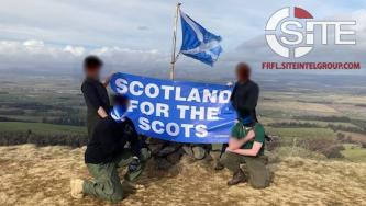 "Scottish White Nationalists Protest ""Anti-Indigenous System"" in Demonstration Against COVID-19 Lockdown"