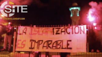 Spanish Neo-Nazi Group Releases Video of Anti-Islam Demonstration in Front of Mosque