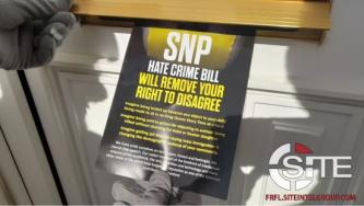 White Nationalist Group Distributes Leaflets in Central Scotland