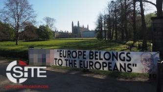 """Europe Belongs to the Europeans"" White Nationalist Banner Campaign in Response to Cambridge Professor's Tweet"