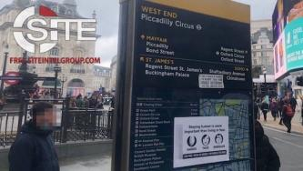 Anti-Vaccine Group Documents Propaganda Stickers Placed During UK Anti-Lockdown Protests