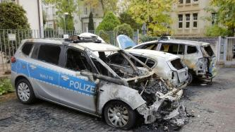 Activists in the City of Frankfurt, Germany Claim Incendiary Attack Against Police Vehicles