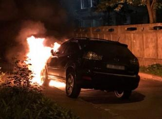 Anarchists Claim Arson in Kiev, Ukraine Against a Luxury Vehicle Supposedly Owned by EPU Vice Chair
