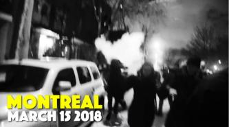 "Anarchists Report Clashes with Police in the City of Montreal in ""March Against Police Brutality"""