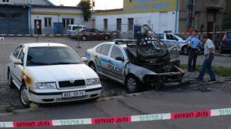 Czech Police Car Set Ablaze Next to Police Station by Anarchist Cell