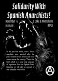 Solidarity Demonstrations for Spanish Anarchists Called for November 14