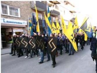 White Supremacists Support Swedish Neo-Nazi March