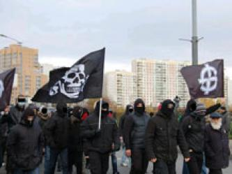 Neo-Nazi Skinhead Group Supports Russian White Supremacist March