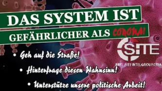 Targeting COVID-19 Conspiracy Theorists For Recruitment, German Neo-Nazi Party Distributes Anti-Vaccination Propaganda at Halle Querdenken Demonstration