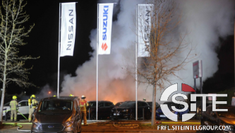 German Anarchists Destroy Fleet of Japanese Automobile Manufacturer's Vehicles in Berlin