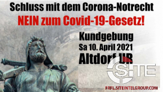 April 10 Protest Against Government Pandemic Policy Planned in Switzerland