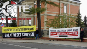 "German Identitarian Activists Attend Chemnitz Protest against ""Great Reset"""