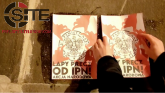Polish Neo-Nazi Group Shares Footage of Postering Campaign in Lublin