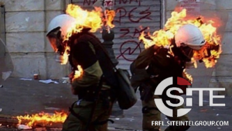Anarchists Incite Arson, Knife Attacks Against Police