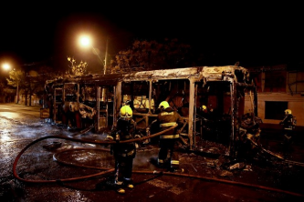 Activist Website Recently Celebrated Incendiary Attack Against a Transantiago Bus