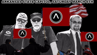 White Supremacist Social Media Account Shares News of Upcoming Gathering in Little Rock, Arkansas