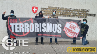 Swiss Identitarian Group Holds Anti-Immigrant Demonstration Outside Federal Courthouse