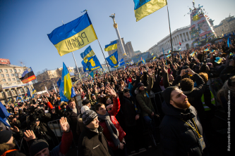 White Supremacists Laud Ukrainian Nationalist Militants taking over a Mall in Kiev