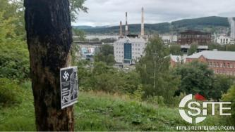 Atomwaffen Division Branch Conducts Postering Campaign in Russia