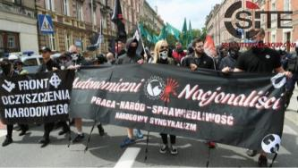 Far-Right Gathers for Anti-Immigration Demonstration in Katowice, Poland