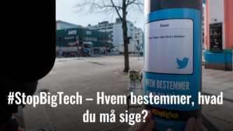 Generation Identity Denmark Publicizes #StopBigTech Propaganda Campaigns in Major Cities