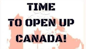 "Anti-Covid Conspiracy Theorists Call For ""Day Of Reopening"" In Canada"