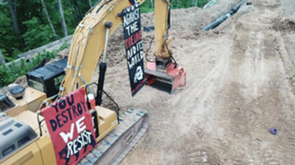 Eco-Extremists Solicit Funds for Individuals Disrupting MVP Construction Site