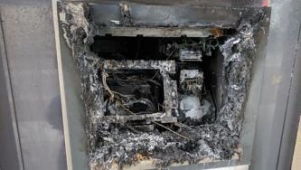 Credem Bank ATM Torched in Saronno, Italy