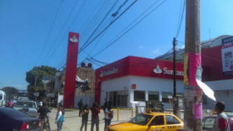 Santander Bank Bombed by Anarchists in Oaxaca, Mexico